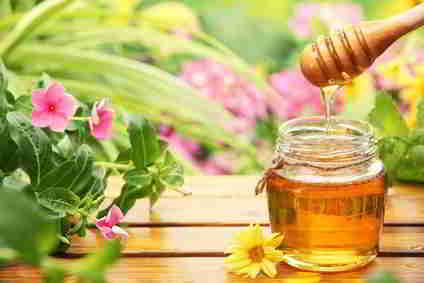 Honig zu süßen