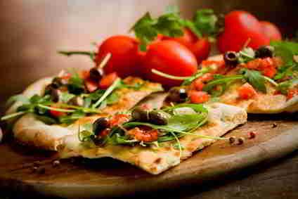 Pizza mit wenig Kalorien