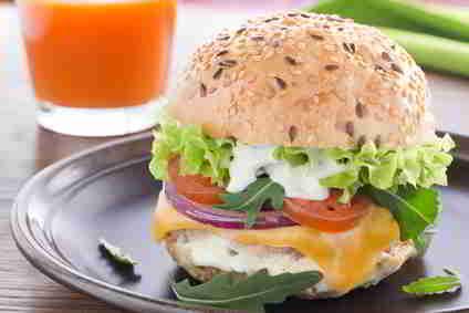 Cheeseburger diättauglich zubereiten.