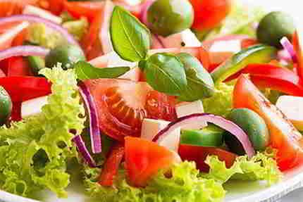 Kalorien Salat. Gemüse salat